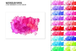 Watercolor paper backgrounds.