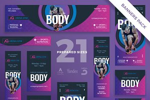 Banners Pack | Gym Training