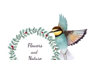 Illustration of Bee eater bird