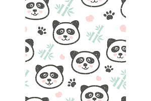 Panda childish pattern