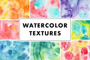 Colorful watercolor texture painting