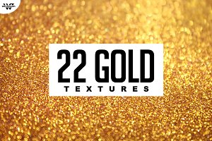 22 GOLD GLITTER Textures