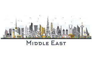 Middle East City Skyline