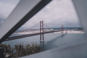 25 de Abril Bridge in Portugal