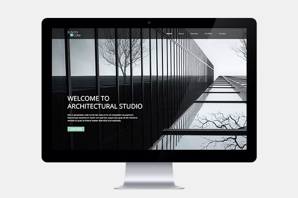 Architecture One Page Web Template ~ HTML/CSS Themes ~ Creative Market