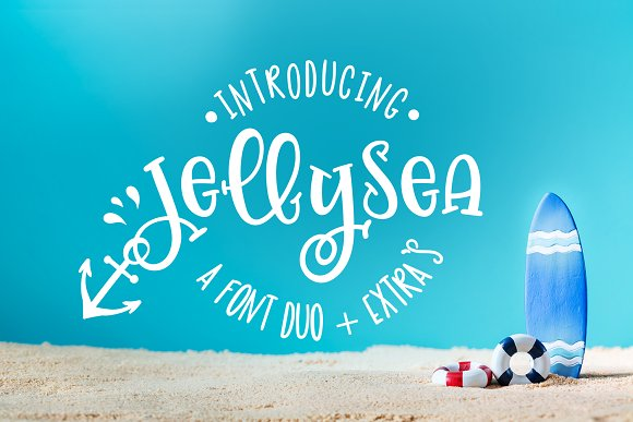 Jellysea Font Duo Summer Doodles