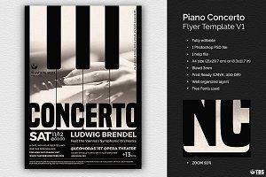 Piano Concerto Flyer Template V1