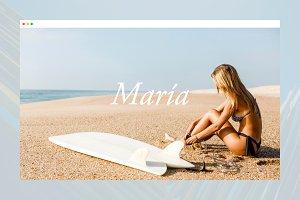 Maria Tumblr theme