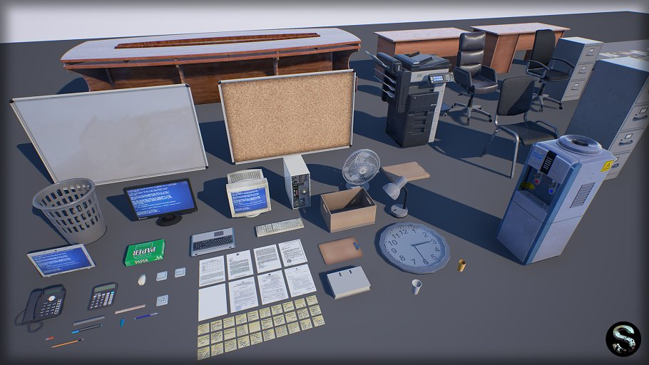 Industry Props Pack 3 in Furniture - product preview 6
