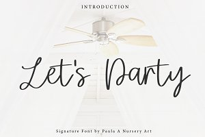 Let's Party | Signature Font