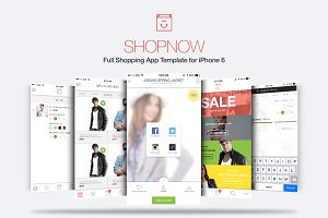 Full Shop App Template for iPhone 6