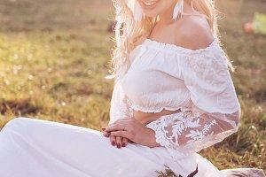 Enchanting Bride with Tiara on Natur