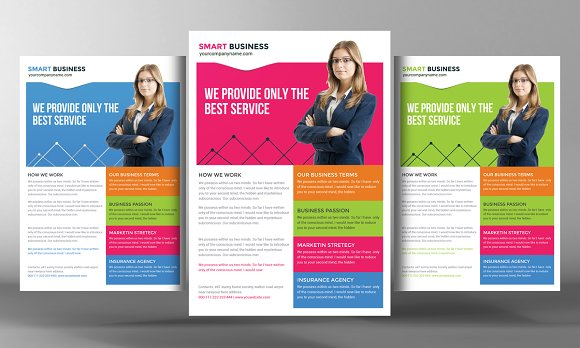 Corporate business flyer template flyer templates creative market accmission