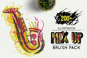 Illustrator grunge brushes
