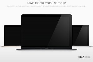 Macbook 2015 - 3 finishes