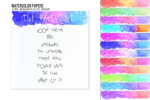 Watercolor header footer bunting BG.