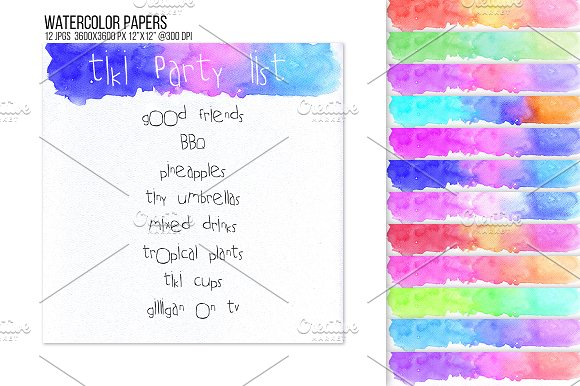 Watercolor Header Footer Bunting BG