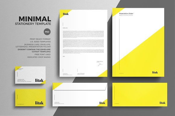 minimal stationery design template stationery templates creative