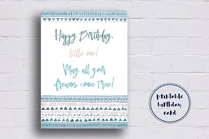 Blue Birthday Card for Boys