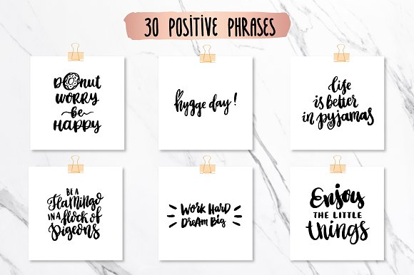 60 Positive Inspirational Phrases Graphics Creative Market Unique Inspirational Phrases