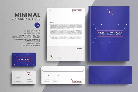 minimal stationery design template stationery templates creative