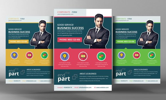 corporate office flyer template flyer templates creative market