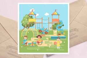 Play ground vector illustration