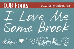 DJB I Love Me Some Brook Font