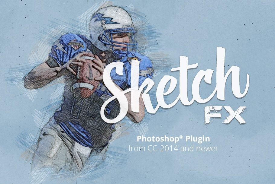 Sketch FX - Photo effect plugin ~ Photoshop Add-Ons ~ Creative Market