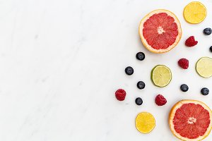 Fruit food white background