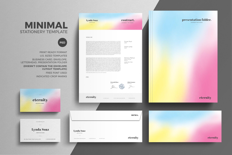 Minimal Stationery Design Template ~ Stationery Templates ~ Creative ...