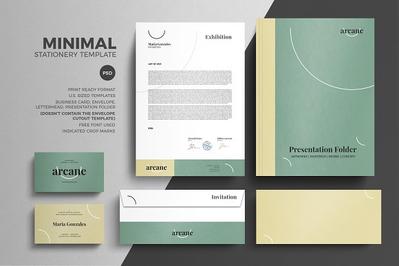 Minimal Pastel Stationery Design Tem