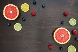 Fruit food dark background