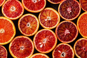 red Orange Citrus background