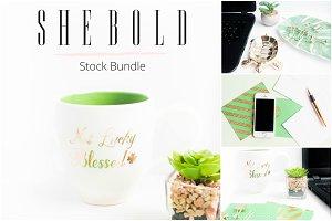 Green Desktop Stock Photo Bundle
