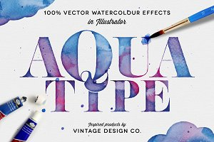 AquaType - Vector Watercolor Effects