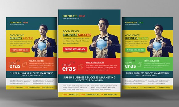 Multi Colors Corporate Flyer