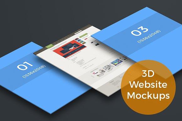 Download 3D Website Display Mockups (iPad)