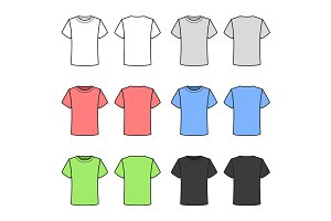 Colored T-shirts Set