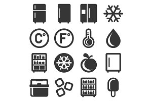 Refrigerator Icons Set