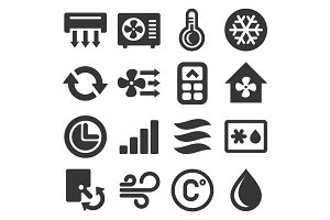 Air Conditioner Icons Set