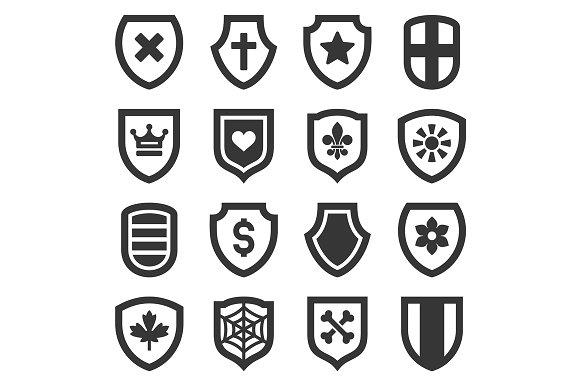 Shield Icons Set