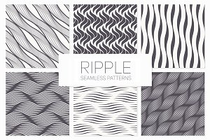 Ripple. Seamless Patterns Set