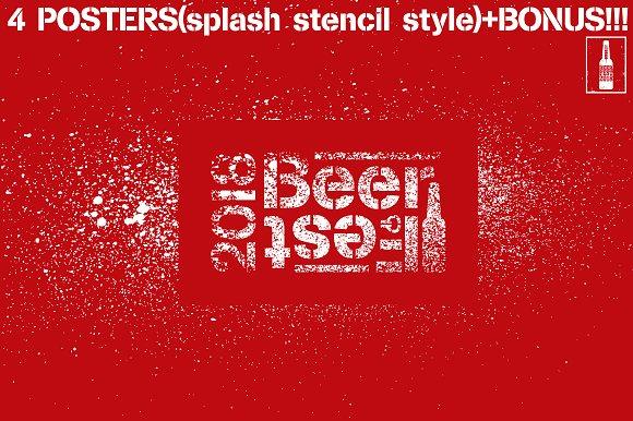 Beer Fest Stencil Grunge Poster