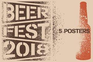 Beer Fest stencil grunge poster.