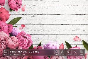 Floral Peonies Mockup Scene #002