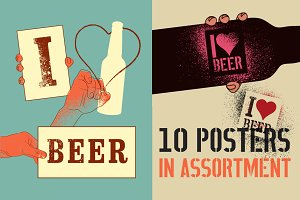 Beer vintage grunge poster.