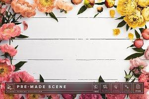 Floral Peonies Mockup Scene #003