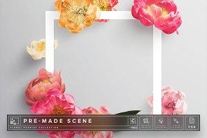Floral Peonies Mockup Scene #004