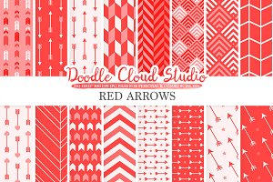 Red Arrows digital paper